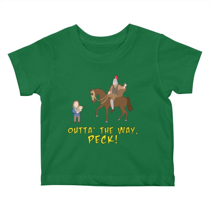 Outta' The Way, Peck! Kids Baby T-Shirt by Mike Schmidt Comics - Artist Shop