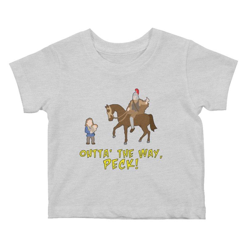 Outta' The Way, Peck! Kids Baby T-Shirt by Mike Schmidt Comics - Artist Shop