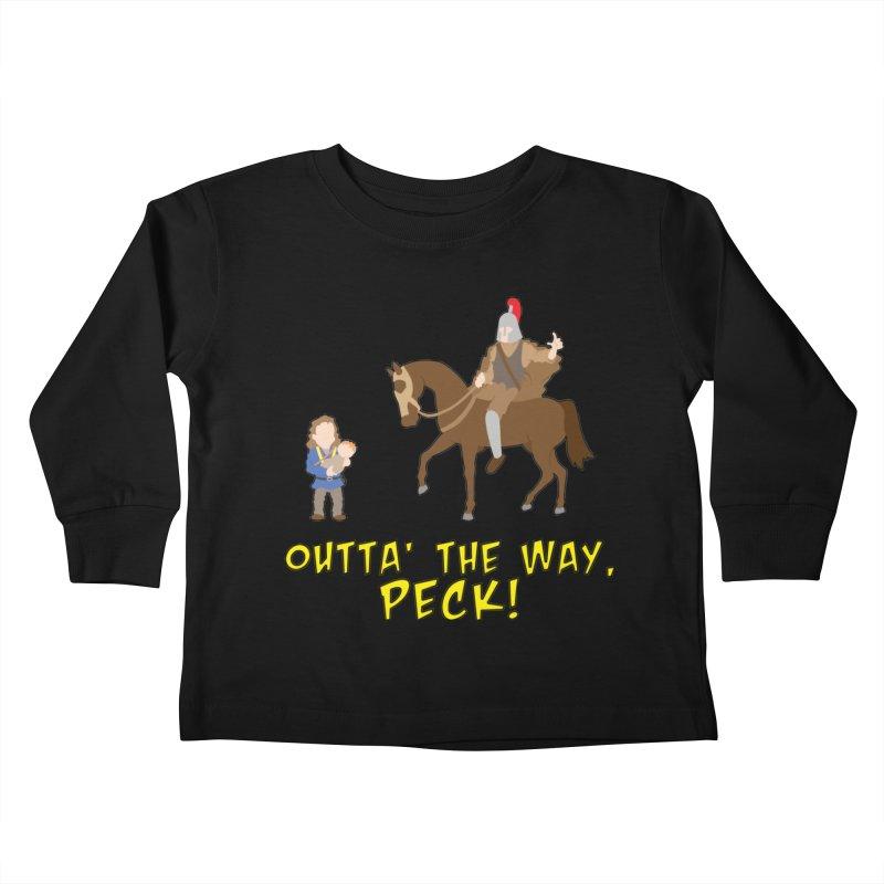Outta' The Way, Peck! Kids Toddler Longsleeve T-Shirt by Mike Schmidt Comics - Artist Shop