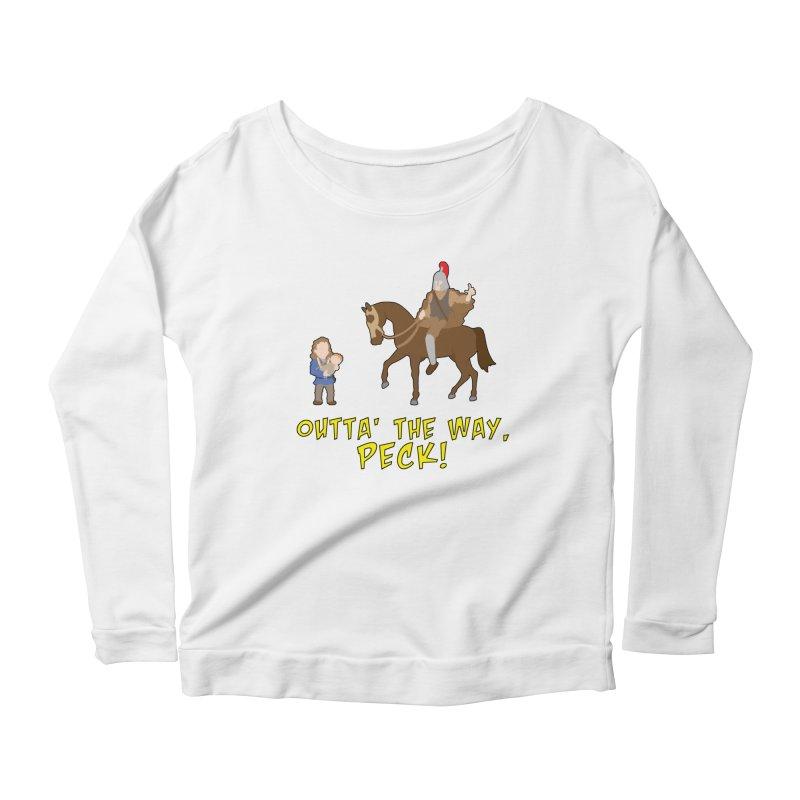 Outta' The Way, Peck! Women's Longsleeve T-Shirt by Mike Schmidt Comics - Artist Shop
