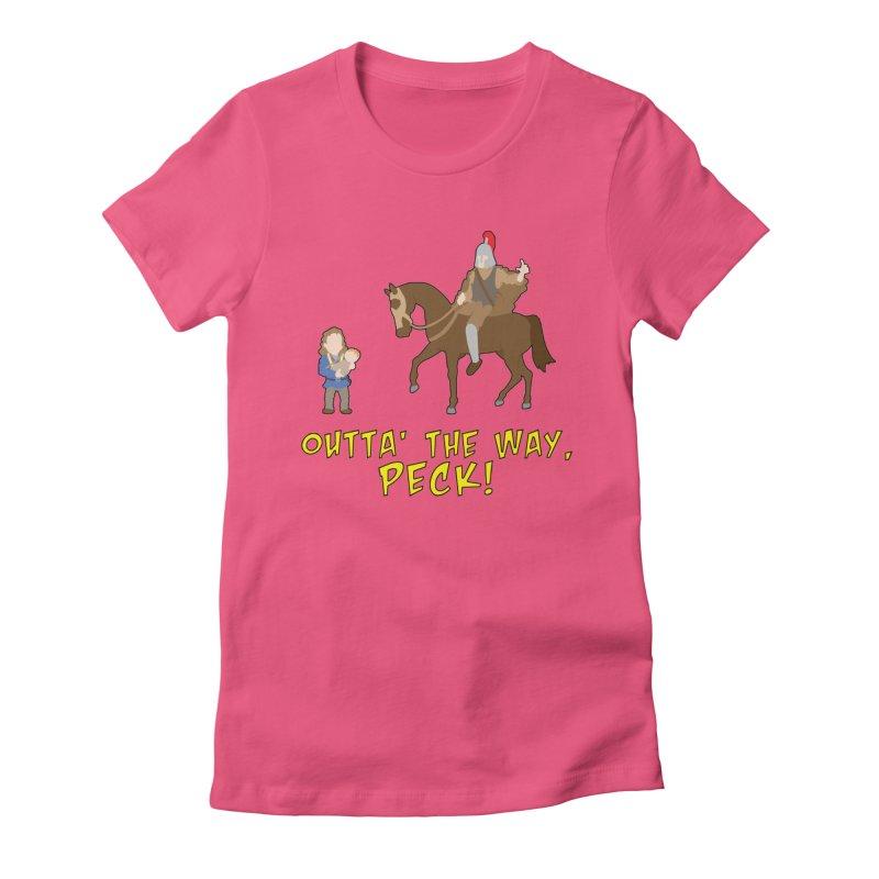 Outta' The Way, Peck! Women's T-Shirt by Mike Schmidt Comics - Artist Shop