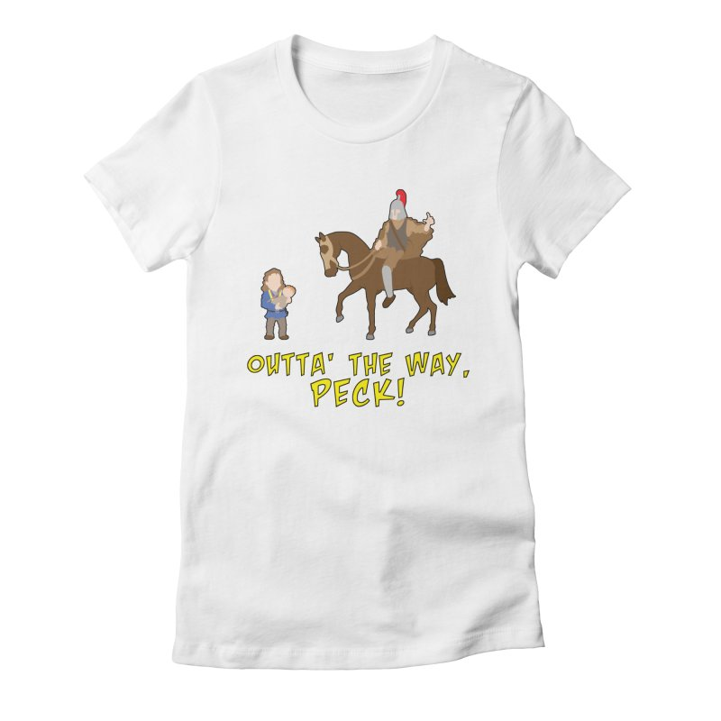Outta' The Way, Peck! Women's T-Shirt by Mike Schmidt Comics - Artist Shop