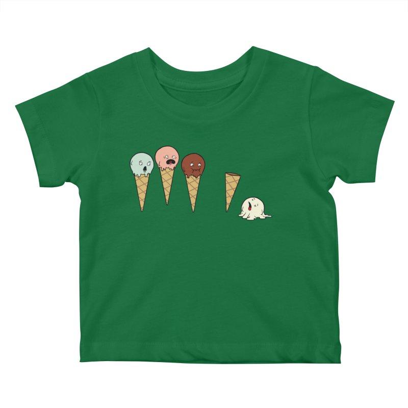 Ice Cream Horror Kids Baby T-Shirt by Mike Schmidt Comics - Artist Shop