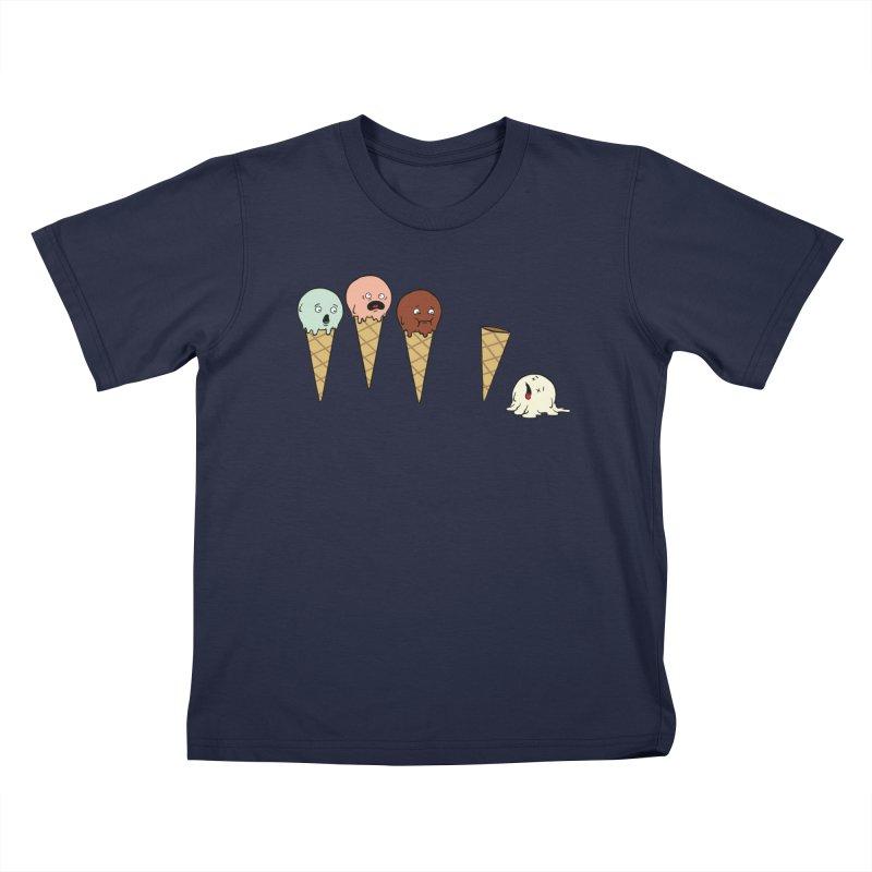 Ice Cream Horror Kids T-Shirt by Mike Schmidt Comics - Artist Shop