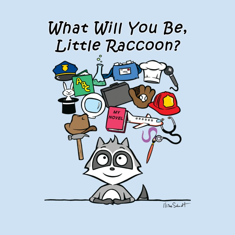 What Will You Be, Little Raccoon? Men's T-Shirt by Mike Schmidt Comics - Artist Shop