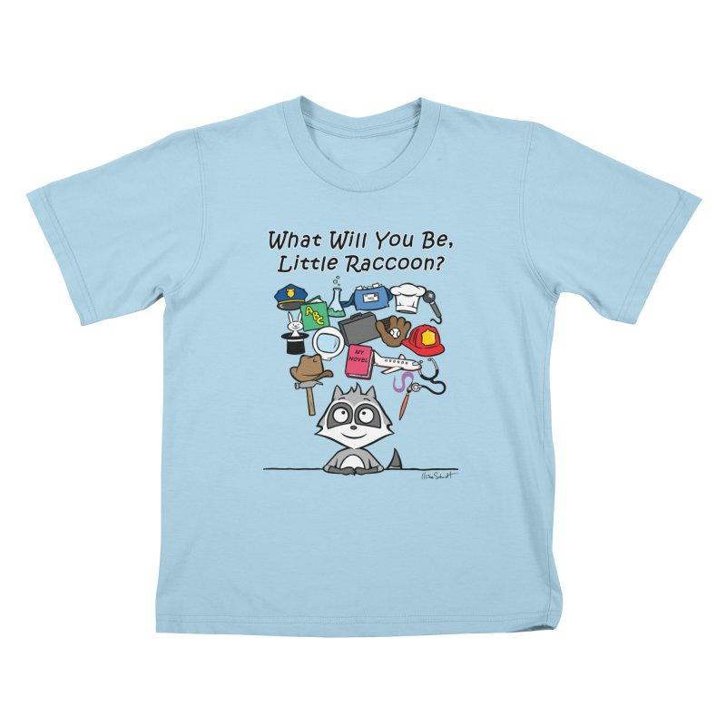 What Will You Be, Little Raccoon? Kids T-Shirt by Mike Schmidt Comics - Artist Shop