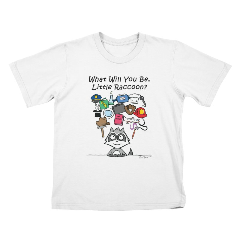 What Will You Be, Little Raccoon? Kids T-Shirt by Mike Schmidt Comics - Artist Shop