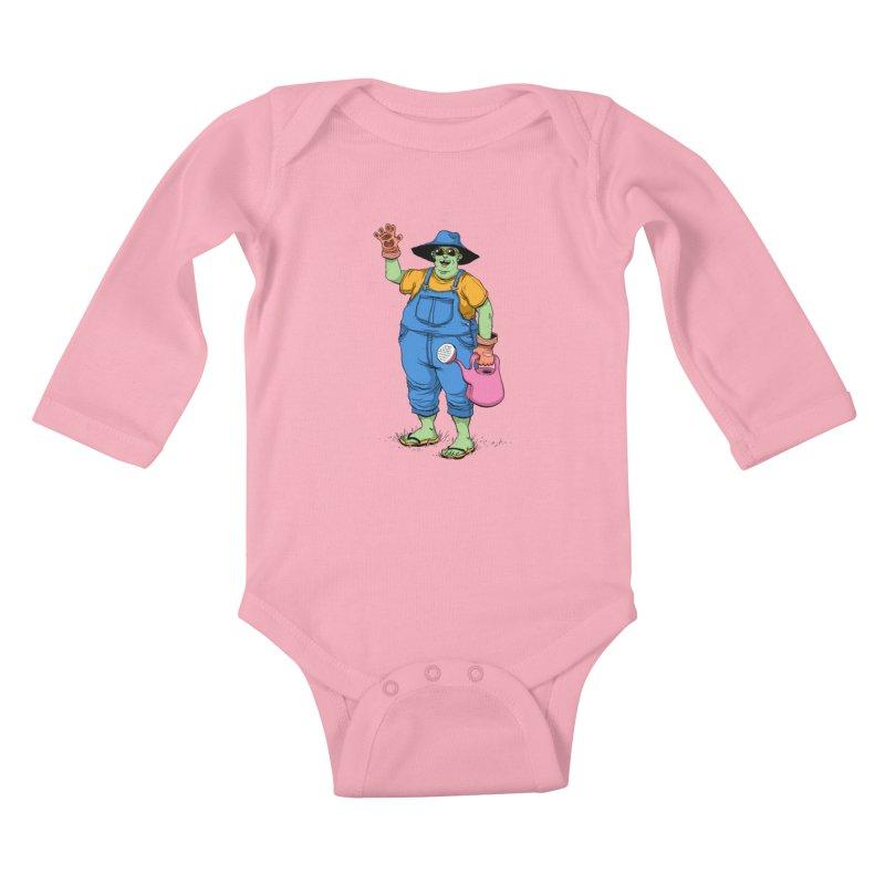 Number One Neighbor Kids Baby Longsleeve Bodysuit by mikeshea's Artist Shop