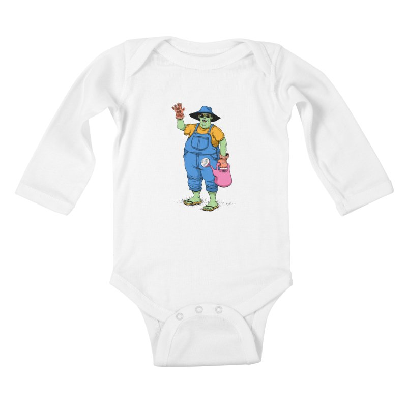Number One Neighbor Kids Baby Longsleeve Bodysuit by mikeshea's Artist Shop