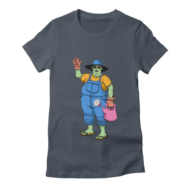 Number One Neighbor Women's Fitted T-Shirt by mikeshea's Artist Shop
