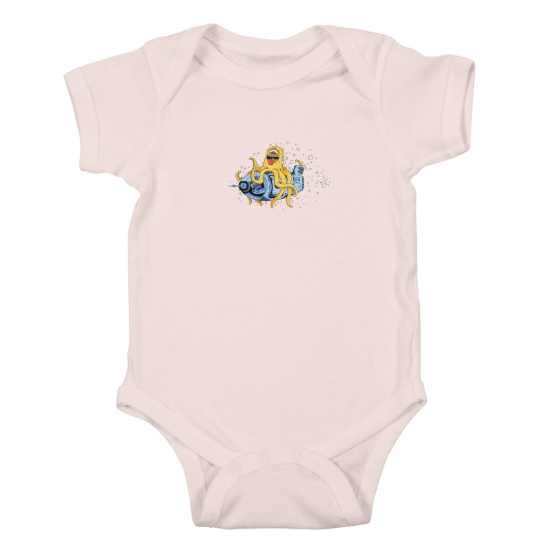 Squid Cruisin Kids Baby Bodysuit by mikeshea's Artist Shop
