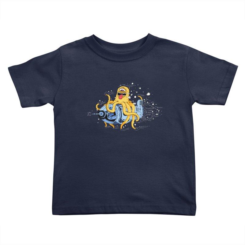 Squid Cruisin Kids Toddler T-Shirt by mikeshea's Artist Shop