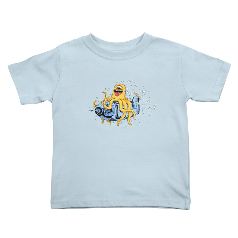 Squid Cruisin Kids Toddler T-Shirt by mikeshea's Artist Shop