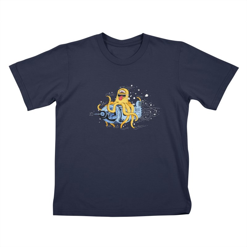 Squid Cruisin Kids T-shirt by mikeshea's Artist Shop