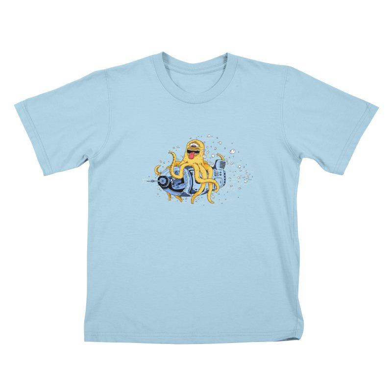 Squid Cruisin Kids T-shirt by mikeshea's Artist Shop