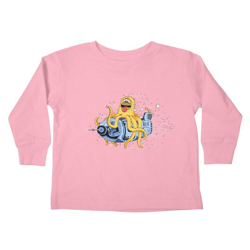 Squid Cruisin Kids Toddler Longsleeve T-Shirt by mikeshea's Artist Shop