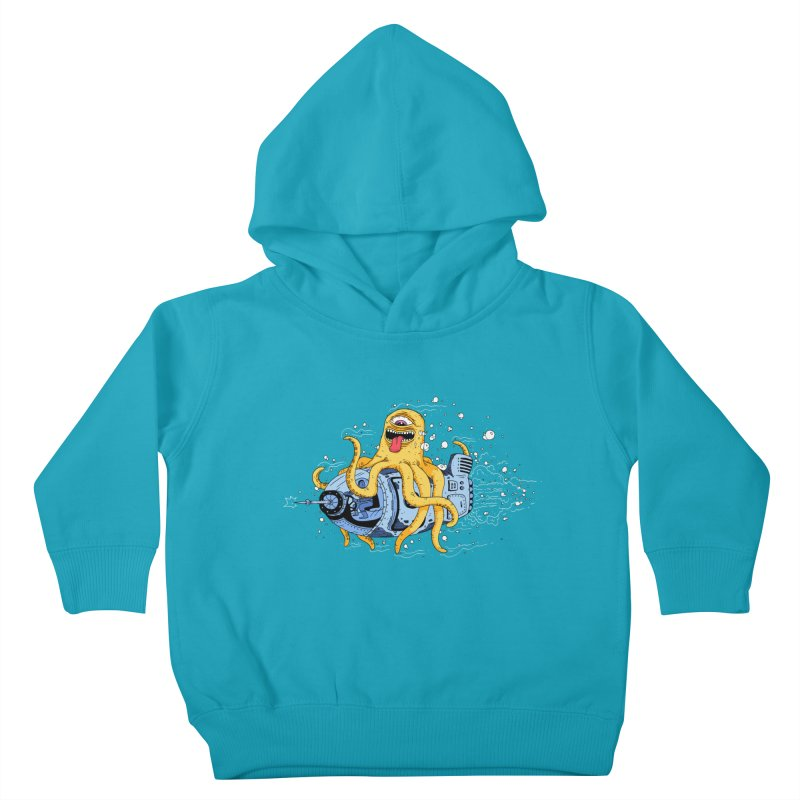 Squid Cruisin Kids Toddler Pullover Hoody by mikeshea's Artist Shop