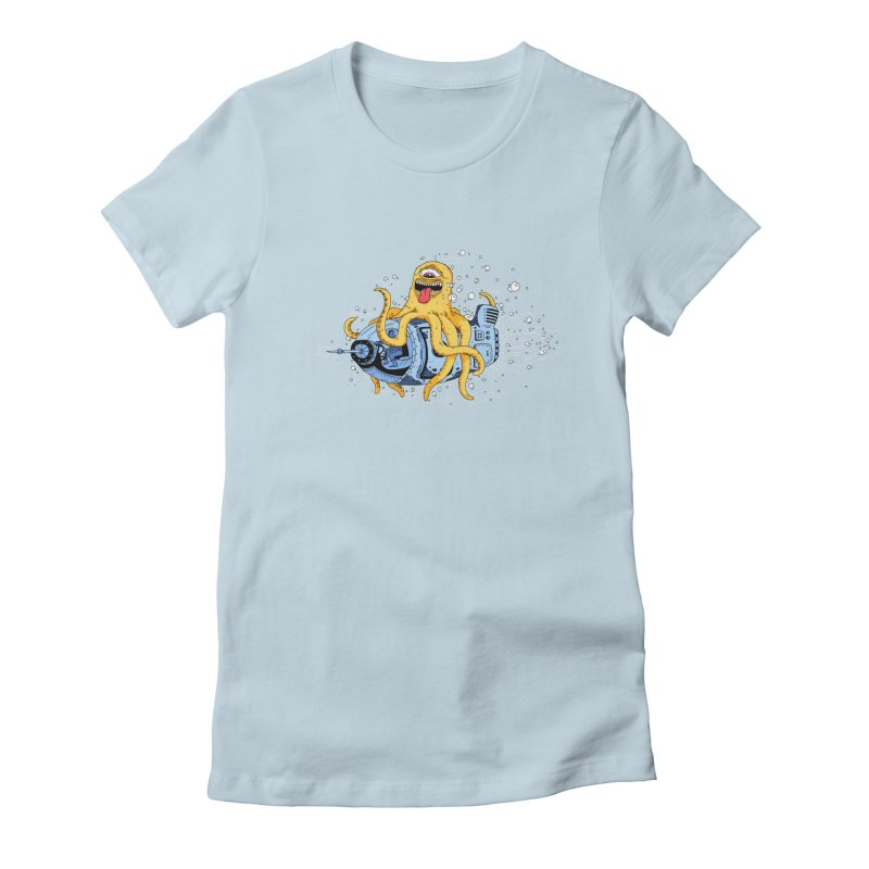 Squid Cruisin Women's Fitted T-Shirt by mikeshea's Artist Shop
