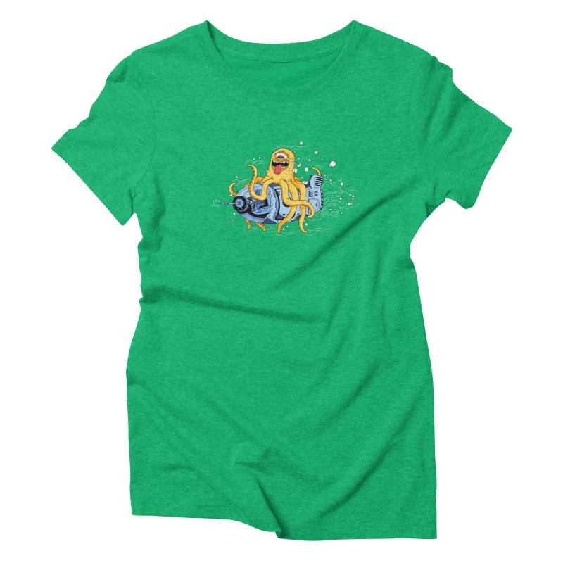 Squid Cruisin Women's Triblend T-shirt by mikeshea's Artist Shop