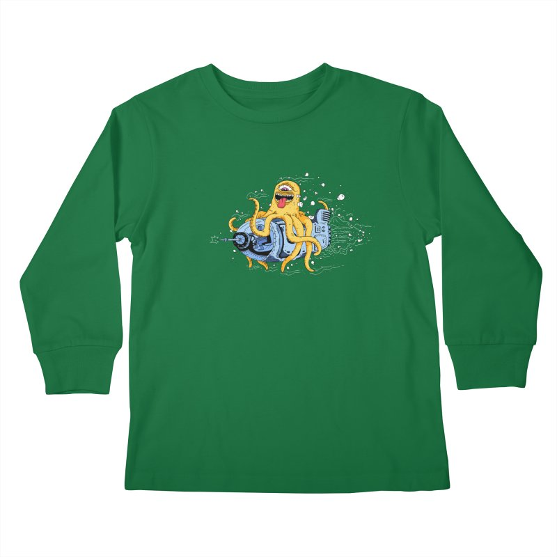 Squid Cruisin Kids Longsleeve T-Shirt by mikeshea's Artist Shop