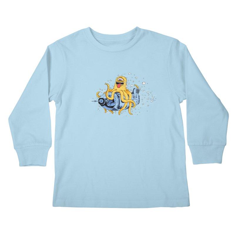 Squid Cruisin Kids Longsleeve T-Shirt by mikeshea's Artist Shop