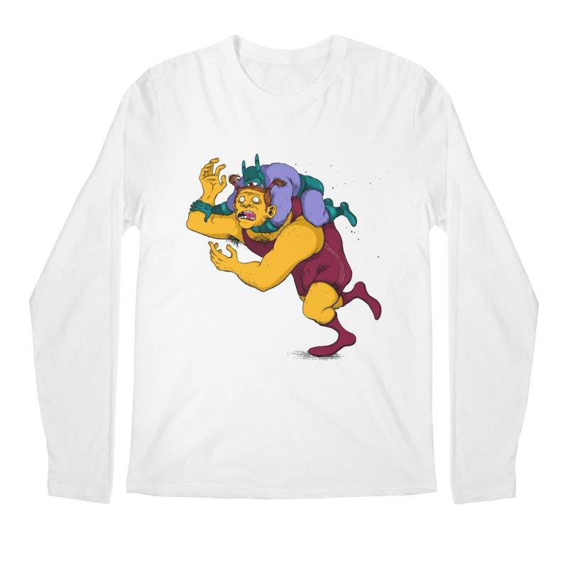 Wrasslin' Men's Regular Longsleeve T-Shirt by mikeshea's Artist Shop