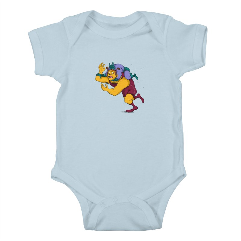 Wrasslin' Kids Baby Bodysuit by mikeshea's Artist Shop
