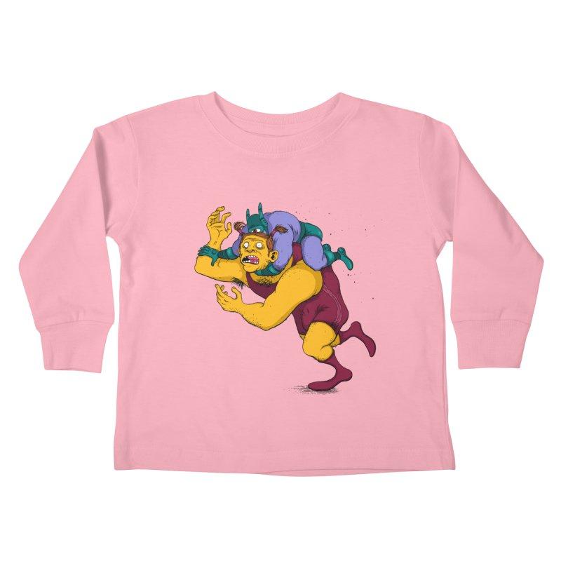 Wrasslin' Kids Toddler Longsleeve T-Shirt by mikeshea's Artist Shop