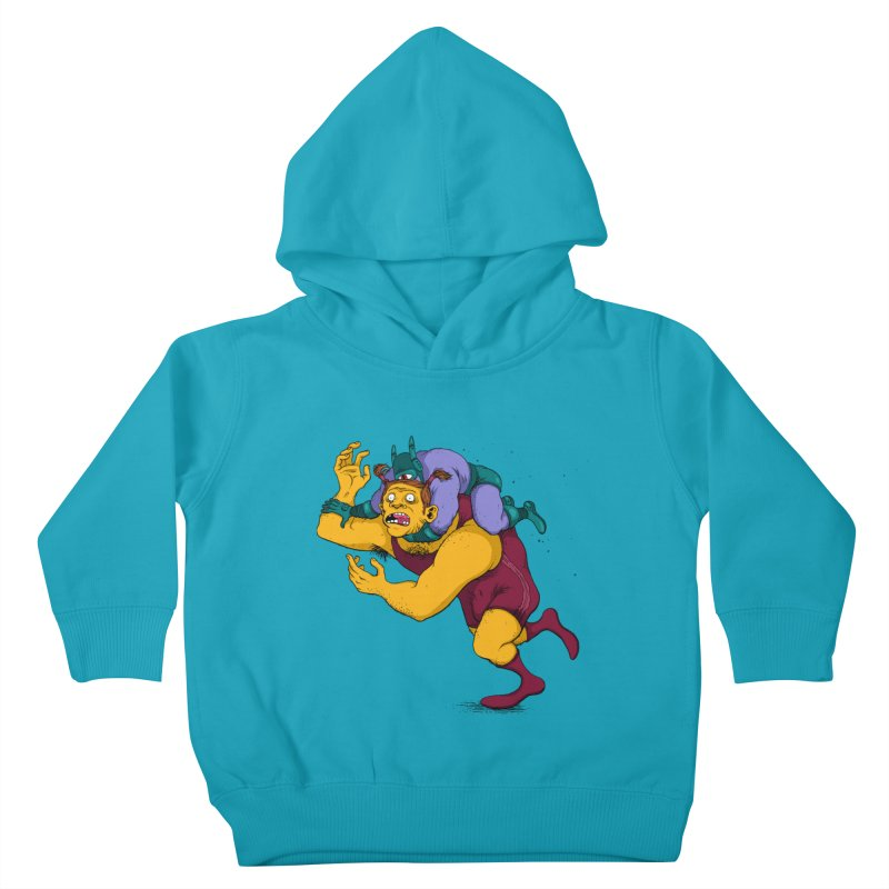 Wrasslin' Kids Toddler Pullover Hoody by mikeshea's Artist Shop
