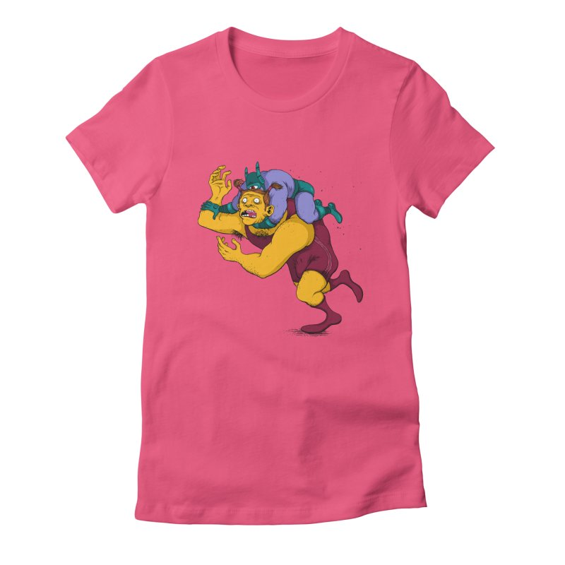 Wrasslin' Women's Fitted T-Shirt by mikeshea's Artist Shop