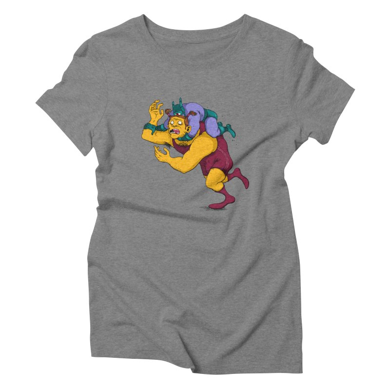 Wrasslin' Women's Triblend T-shirt by mikeshea's Artist Shop