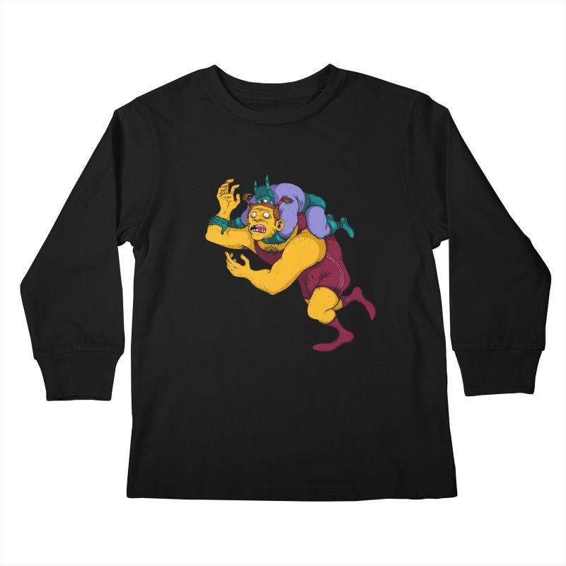 Wrasslin' Kids Longsleeve T-Shirt by mikeshea's Artist Shop