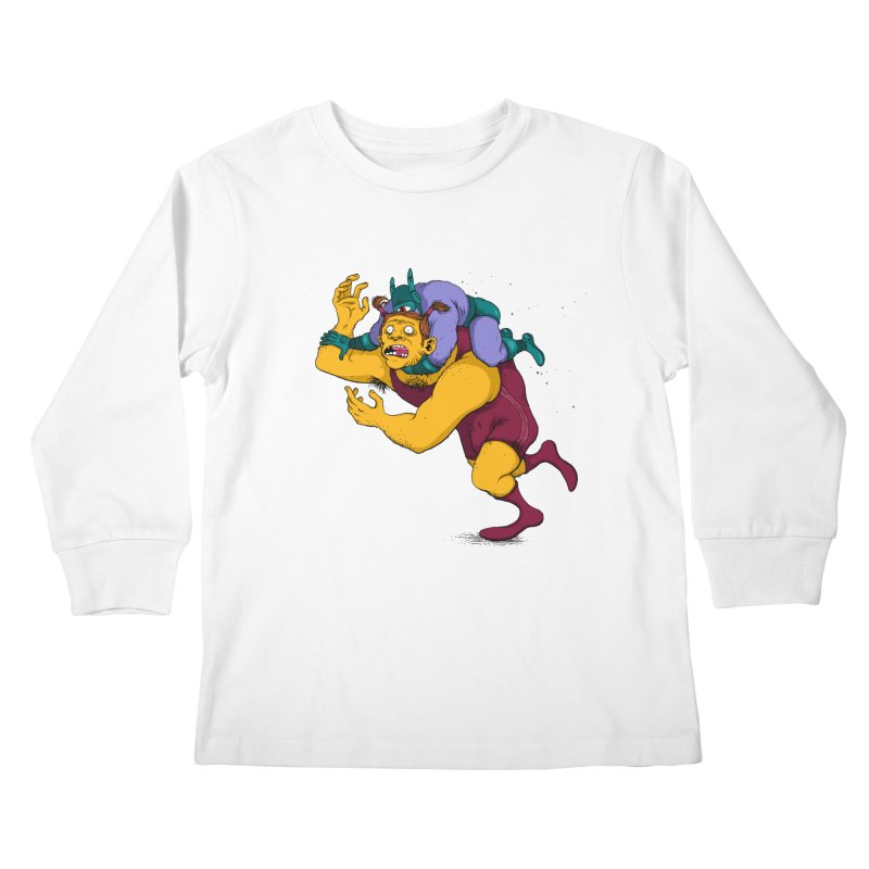Wrasslin' Kids Longsleeve T-Shirt by mikeshea's Artist Shop
