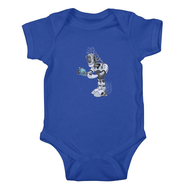 Brobot Kids Baby Bodysuit by mikeshea's Artist Shop