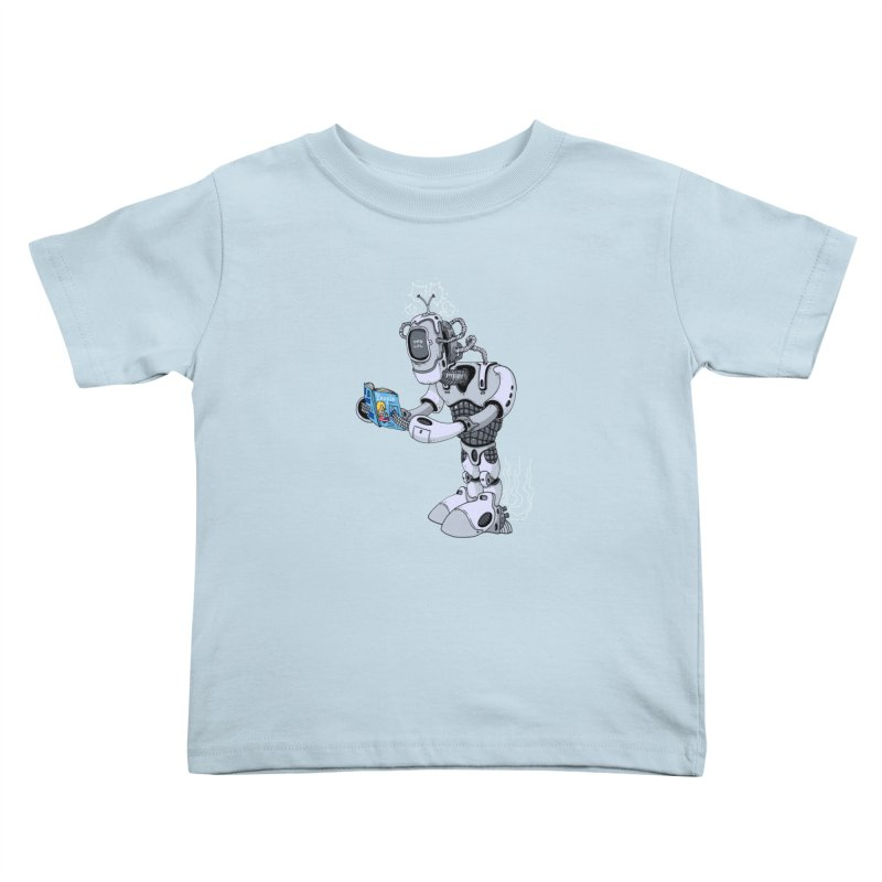Brobot Kids Toddler T-Shirt by mikeshea's Artist Shop
