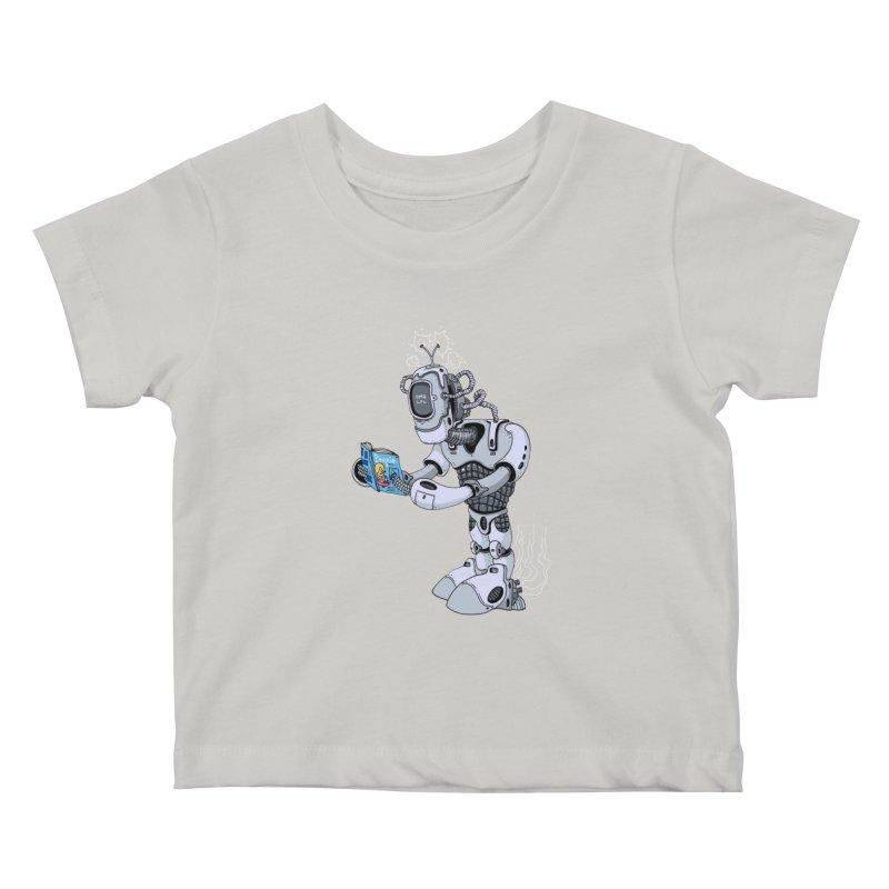 Brobot Kids Baby T-Shirt by mikeshea's Artist Shop