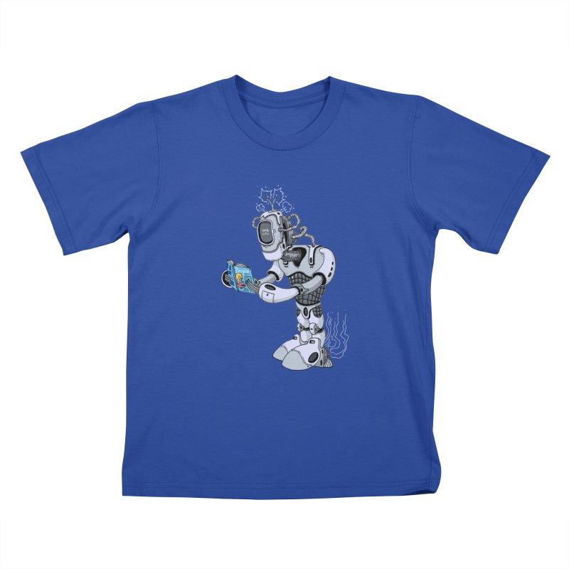 Brobot Kids T-shirt by mikeshea's Artist Shop