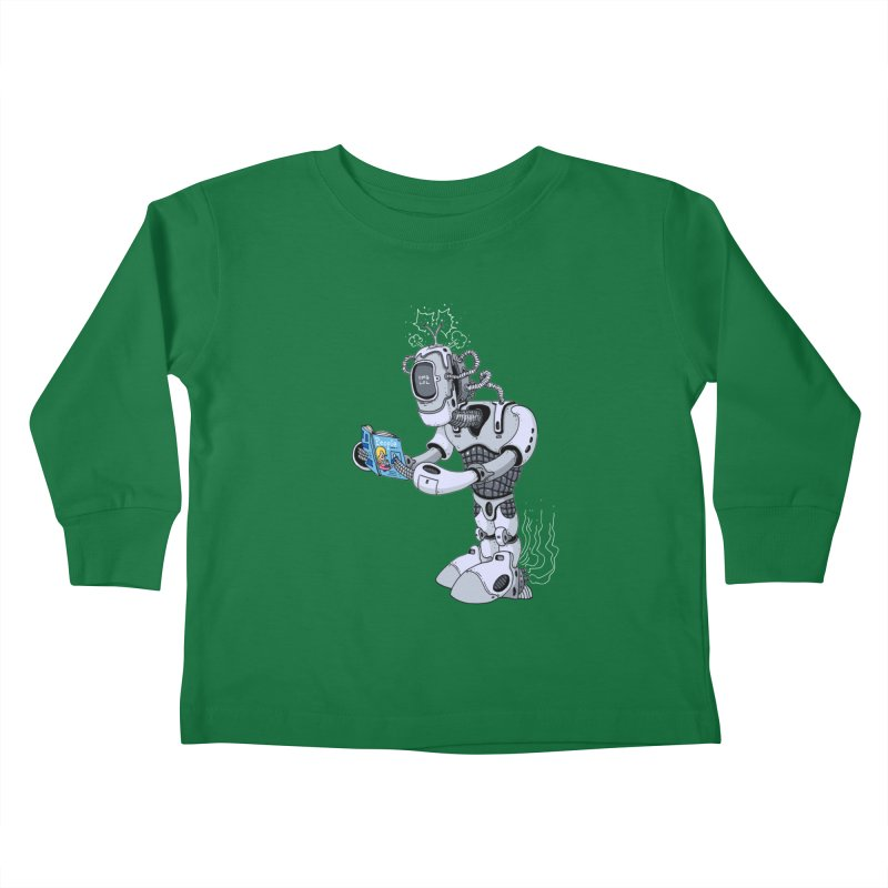 Brobot Kids Toddler Longsleeve T-Shirt by mikeshea's Artist Shop