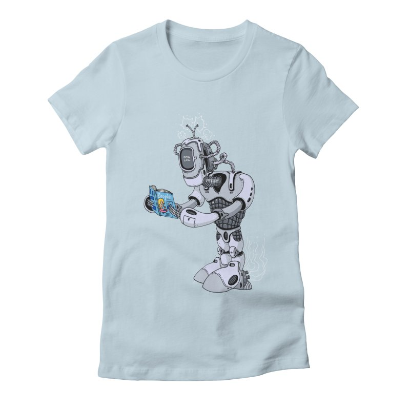 Brobot Women's Fitted T-Shirt by mikeshea's Artist Shop