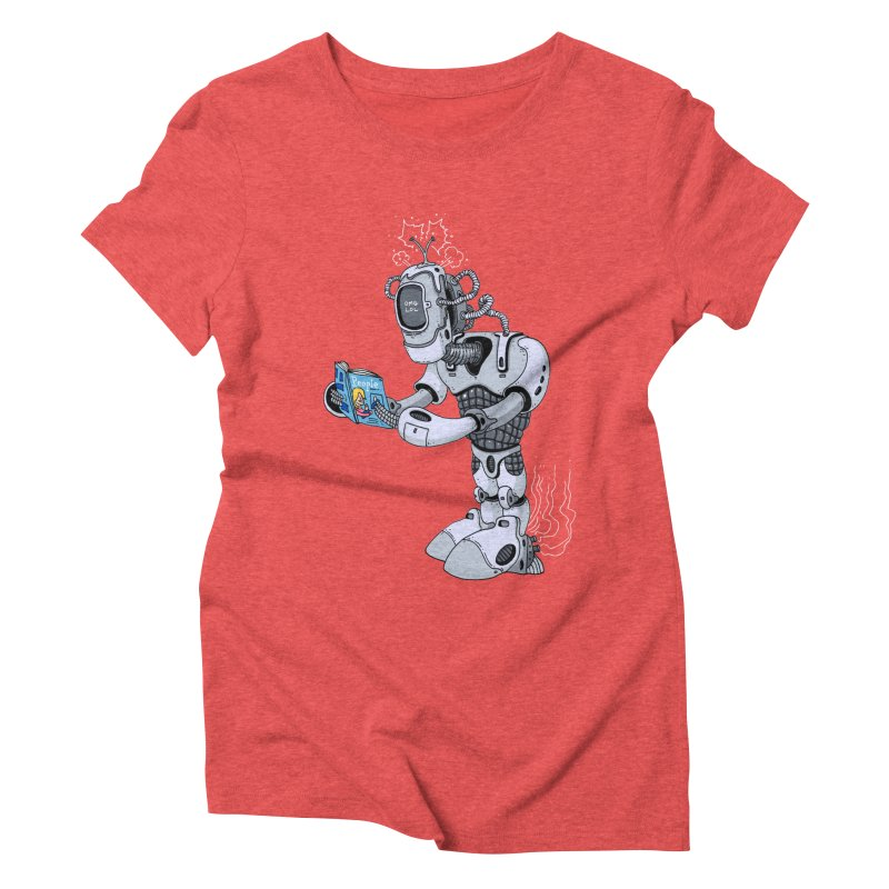 Brobot Women's Triblend T-shirt by mikeshea's Artist Shop