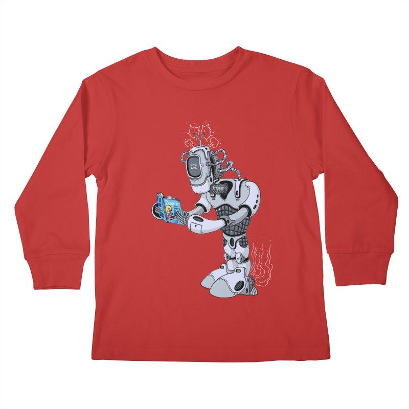 Brobot Kids Longsleeve T-Shirt by mikeshea's Artist Shop