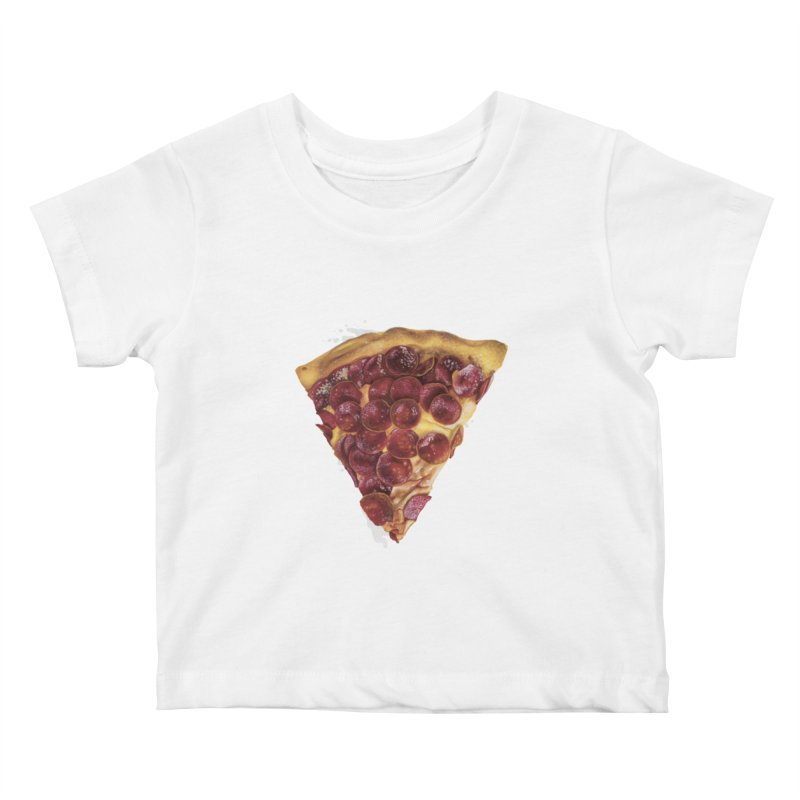 Pepperoni Kids Baby T-Shirt by mikesobeck's Artist Shop