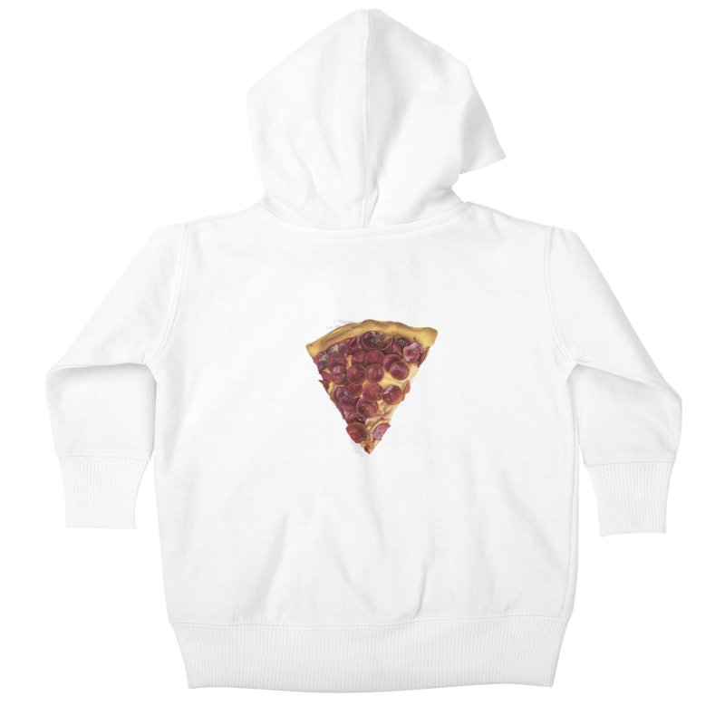 Pepperoni Kids Baby Zip-Up Hoody by mikesobeck's Artist Shop