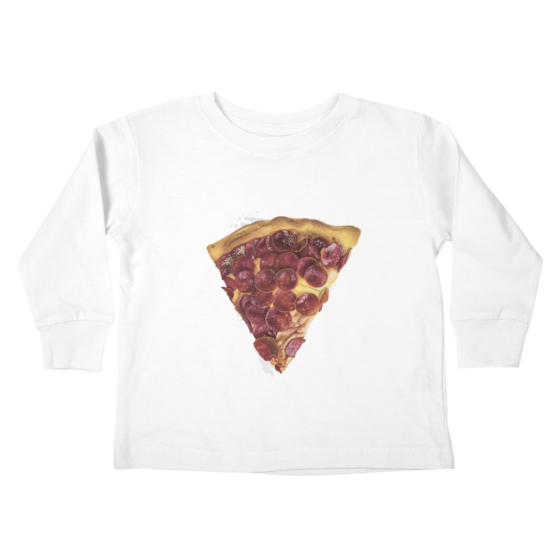 Pepperoni Kids Toddler Longsleeve T-Shirt by mikesobeck's Artist Shop