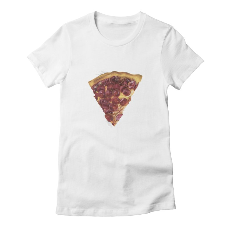 Pepperoni Women's Fitted T-Shirt by mikesobeck's Artist Shop