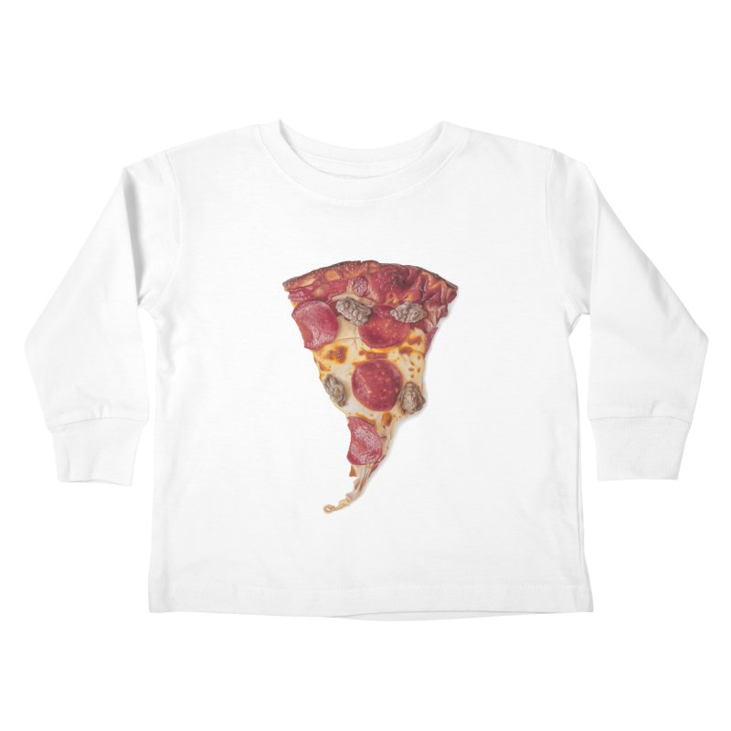 Pepperoni and Sausage Kids Toddler Longsleeve T-Shirt by mikesobeck's Artist Shop