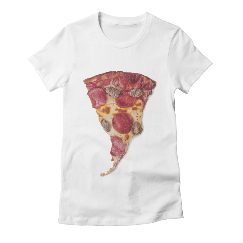 Pepperoni and Sausage Women's Fitted T-Shirt by mikesobeck's Artist Shop