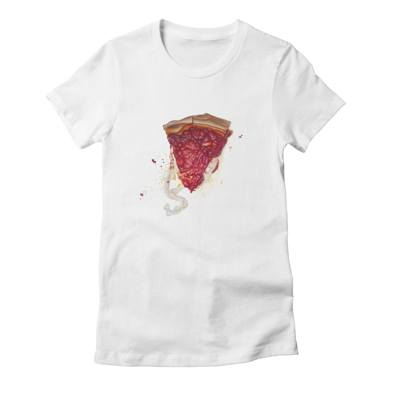 Deep Dish Women's Fitted T-Shirt by mikesobeck's Artist Shop