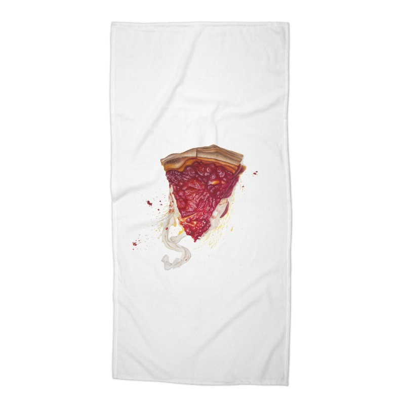 Deep Dish Accessories Beach Towel by mikesobeck's Artist Shop