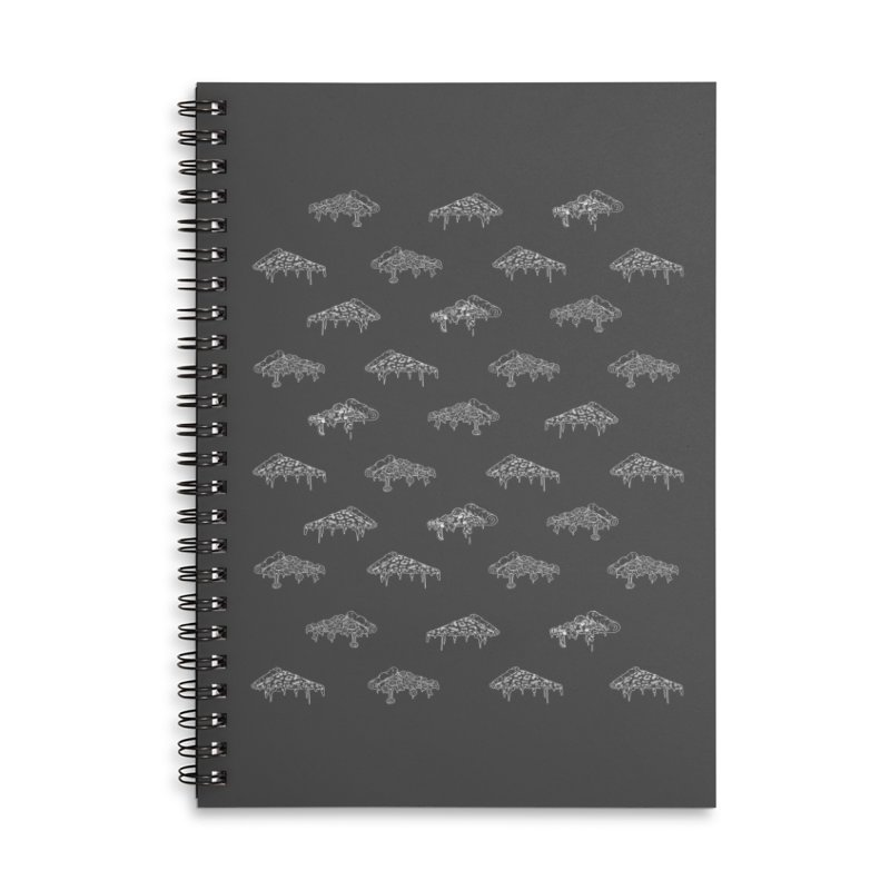 Dripping Pizza Accessories Lined Spiral Notebook by mikesobeck's Artist Shop